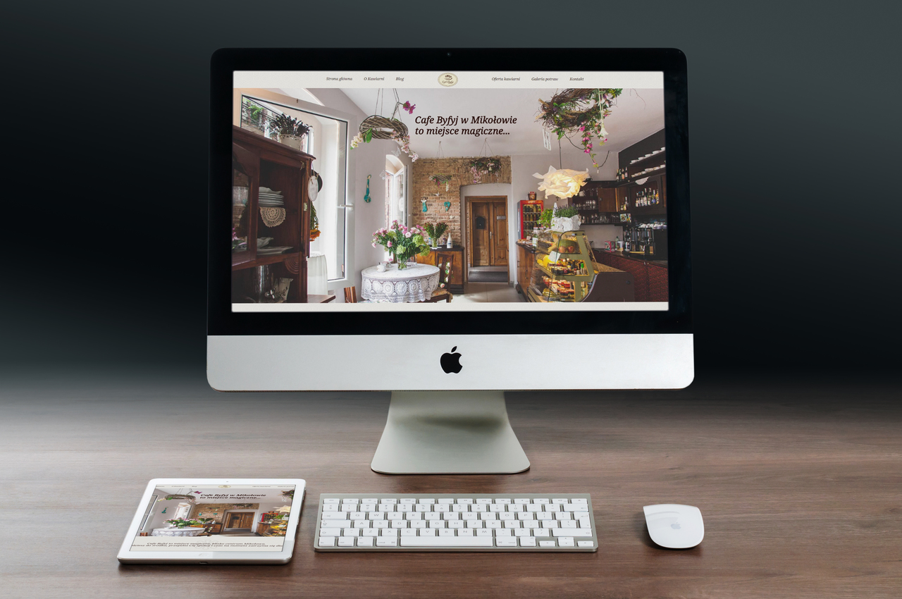 Strona na WordPressie Cafe Byfyj — Joanna Wróbel