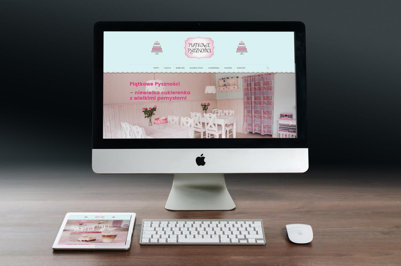 Strona na WordPressie Piątkowe Pyszności — Joanna Wróbel